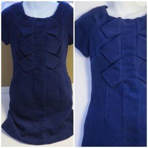 MOON COLLECTION BLUE SHIFT DRESS SM VINT INSPIRED